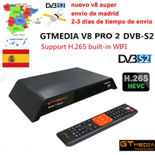 GTMedia V8 Pro2 DVB S2+T2+Cable Satellite TV Receiver Support PowerVu Biss Key cccam HD 1080p Built-in WiFi CCCAM H.265