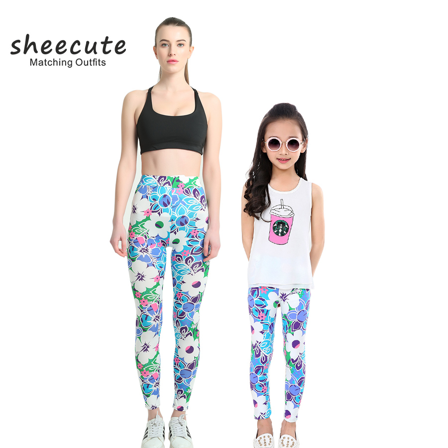 SheeCute Household Matching Outfits Spring Autumn Trend printing leggings Mom And Daughter pants women leggings Matching Household Outfits, Low-cost Matching Household Outfits, SheeCute Household Matching Outfits Spring Autumn Trend...