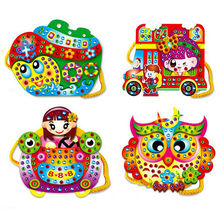 Creative EVA Handmade Cartoon Pattern Hand Sewing Bag Craft Kit Kids Puzzles Toy