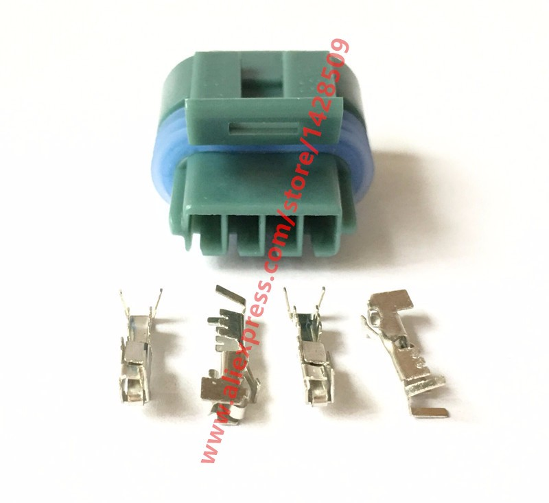 10 Sets 4 Pin Delphi Female Waterproof Automotive Wire Harness Connector 12162833 12162834 Mass Air Flow