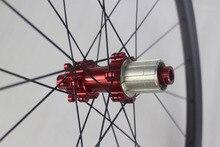 """755G SUPER LIGHT 29 """"MTB XC Race 28mm อสมมาตร hookless ดึงตรง 142 มม.จักรยานเสือภูเขาจักรยานคาร์บอนเส้นใยด้านหลังล้อ Aerodynamic"""