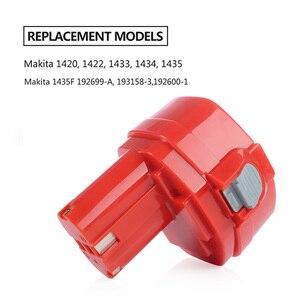 Image 4 - PA14 14,4 V NI MH 3000mAh Ersatz Batterie für Makita Batterie 14,4 V PA14 1420 1422 1433 1434 1435 1435F 192699 A