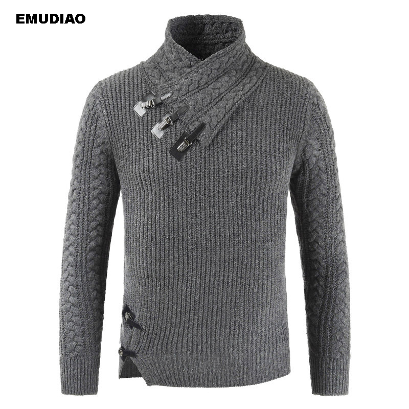 Turtle Neck Sweater Men Long Sleeve Knitted Pullovers 2019 Autumn Winter Soft Warm Basic Man Sweaters Streetwear Sueter Clothes