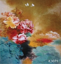 10X10ft Hand painted natural scenic Muslin photo studio backdrops,beautiful flower custom photographic background wedding K3071