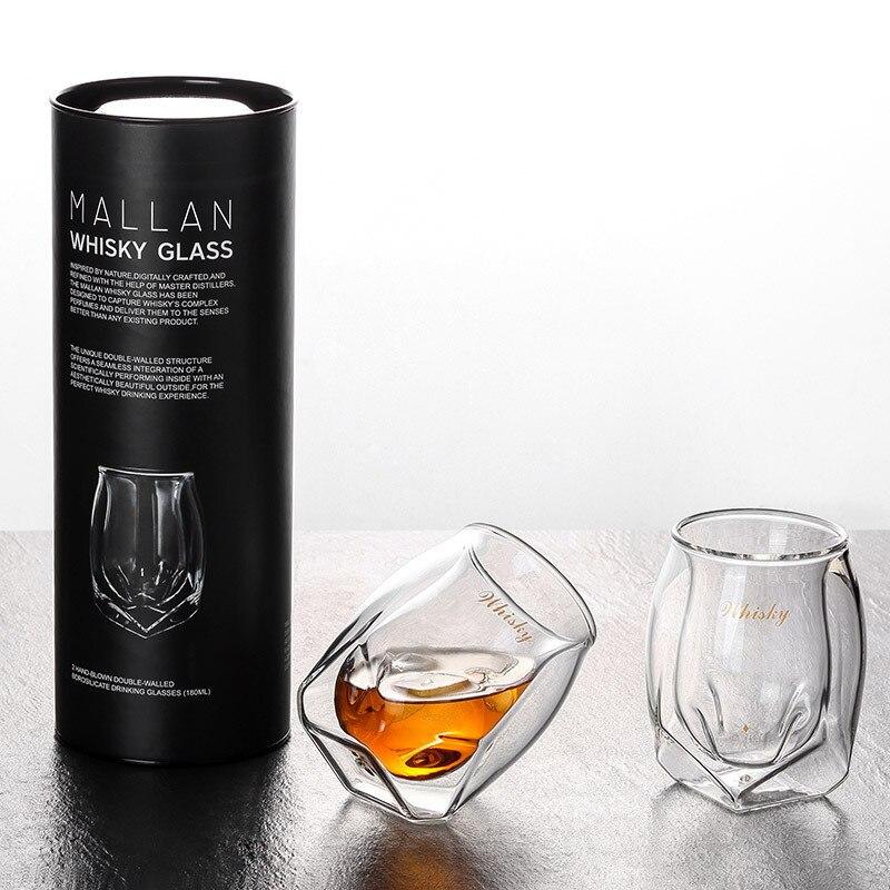 Double paroi Verre Design rhum Vin tasses Whisky XO Chivas Regal Whisky Verre à boire NMD Copas Boda Vasos De Cristal Verre A Vin
