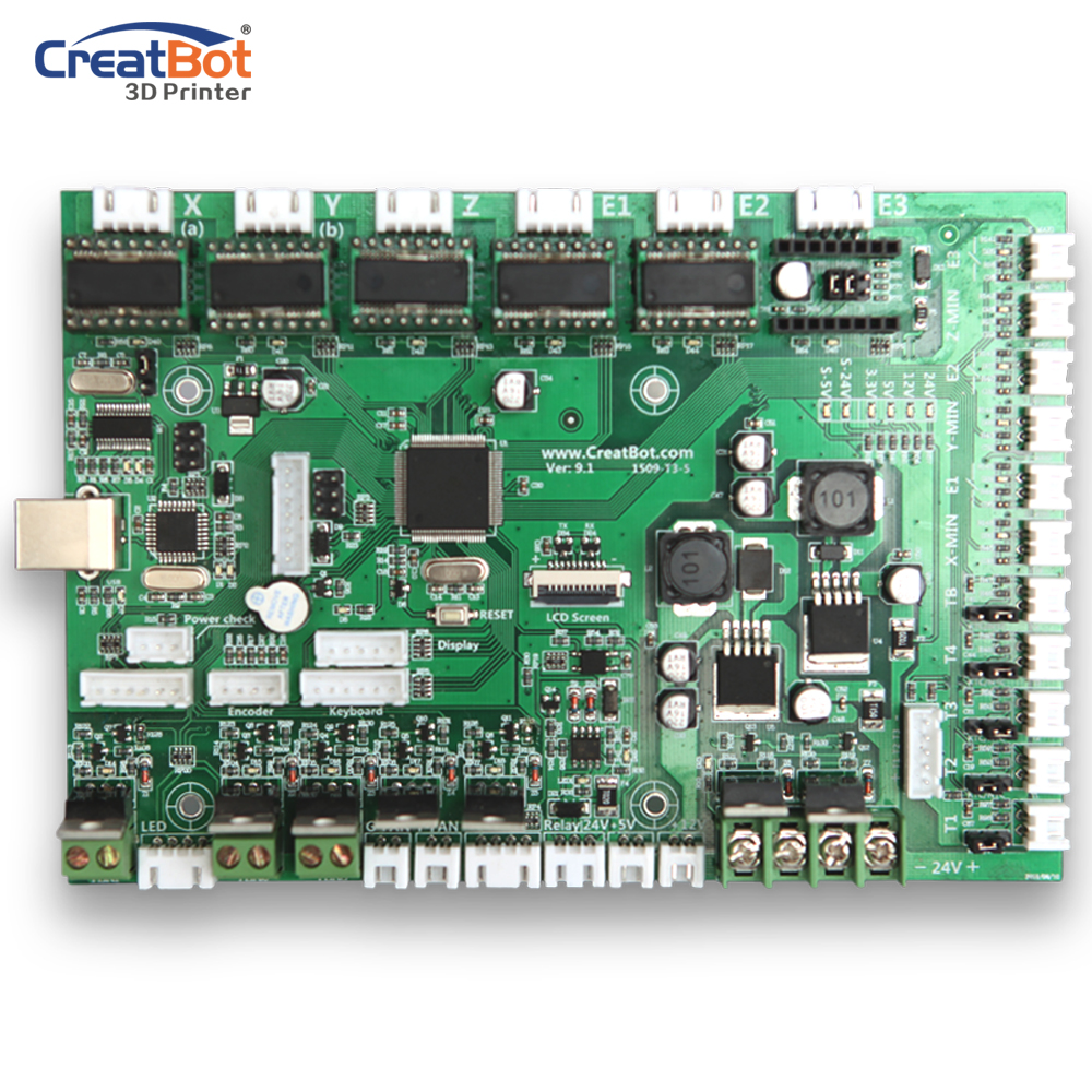 3d printer control board/ Controller CreatBot Large 3D Printer Accessories/ Parts for sale DIY Free Shipping free shiping ciclop diy 3d three dimensional scanner adapter plate precision machine parts for 3d printer parts