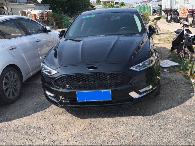 Ford Fusion Titanium 0 60 >> Black with red ABS Honeycomb Lacquer that Bake Front Racing Grill Fit For Ford Mondeo Fusion ...