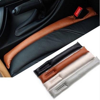 1 pcs Universal PU Leather Car Seat Gap Plug Auto Seat Gap Leak-Proof Pad Black Gay Beige Brown