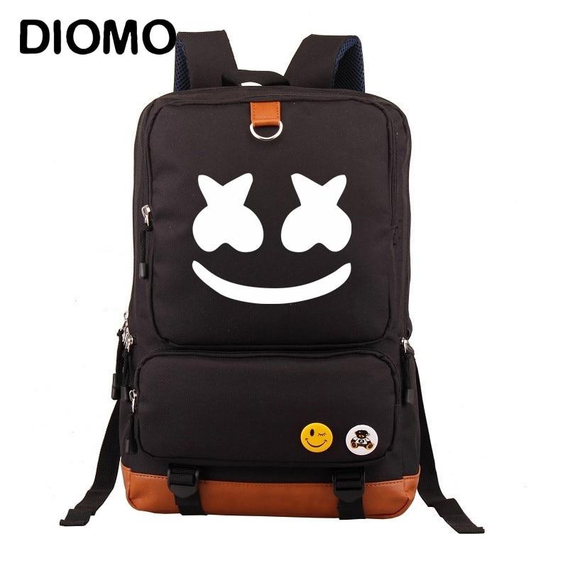 efaf8b63a64b DIMOM Marshmello ноутбук Рюкзаки Школьный Рюкзак Мужские школьные сумки для подростков  мальчиков и девочек kinder rugzak