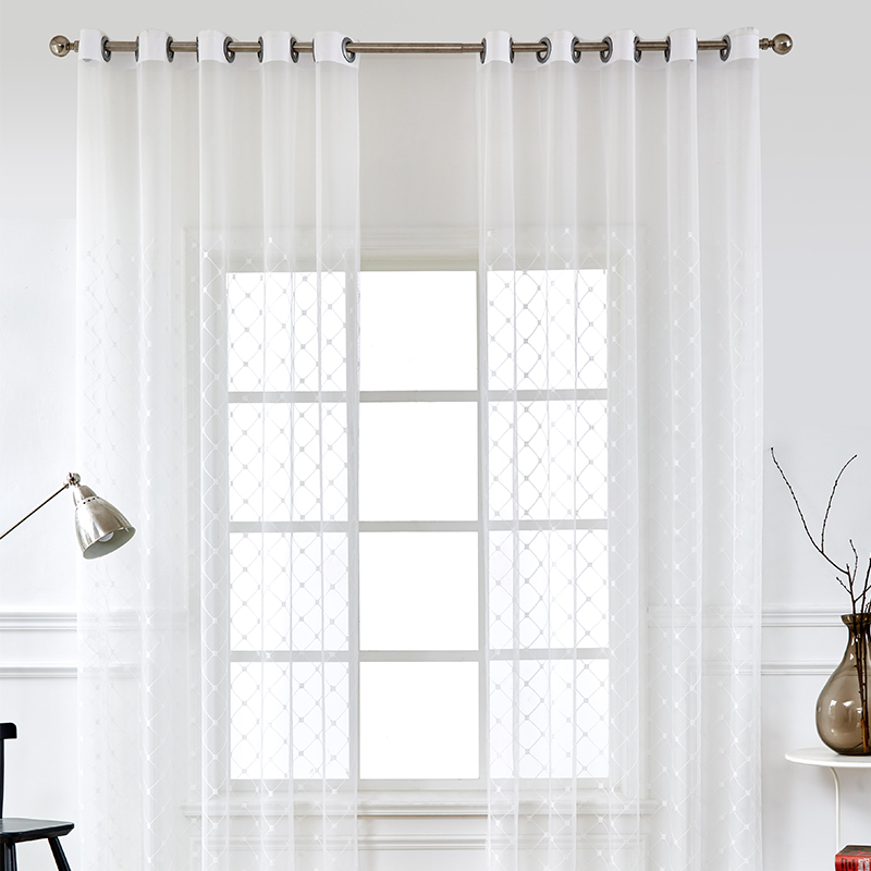US $9.76 21% OFF|Tulle Curtains For Living Room Modern Voile Curtains  Bedroom Decoration Window Treatments White Curtains Salon Drapes Kitchen-in  ...