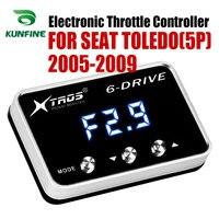 רכב אלקטרוני מצערת בקר מירוץ מאיץ Booster החזק עבור סיאט טולדו (5 P) 2005 2009 כוונון חלקי אבזר|בקר מצערת אלקטרוני לרכב|רכבים ואופנועים -
