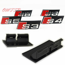 1Set S3 S4 S5 S6 S8 car sticker Front Grille Car Head Grill Badge Sticker For Audi A4 A4L A5 A6L S3 S6 C5 C6 A7 car styling