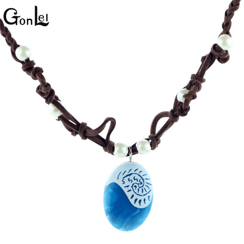 GonLeI 2017 New Movie Original Moana princess Necklace Pendant model action figure toys Oyuncak for kid party supply gift