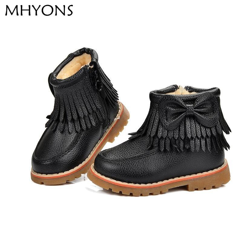 Girls-Snow-Boots-Kids-Shoes-Plush-Butterfly-Knot-Tassel-Zipper-Thick-Bottom-Shoes-Waterproof-Fringe-Short-Boot-bota-menina-2