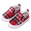 Spring New 2017 Fashion Boys Girls Canvas Shoes Gingham Plaid Children Casual Sneakers Low Cut Comfort Baby Shoes Kids Loafers