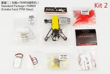 JMT Q100 Indoor Mini FPV Racing Drone KIT With Frame Brushed Motor ESC Battery Props FM800 Receiver Yellow