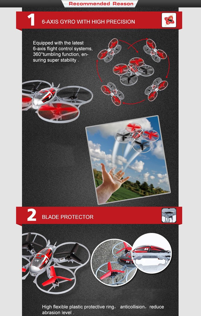 D4 Syma X4 4-Ch 2.4GHz 6-Axis Gyro RC Helicopter Quadcopter With Flash Lights Mini Remote Control Helicopter Quad Copter Toys