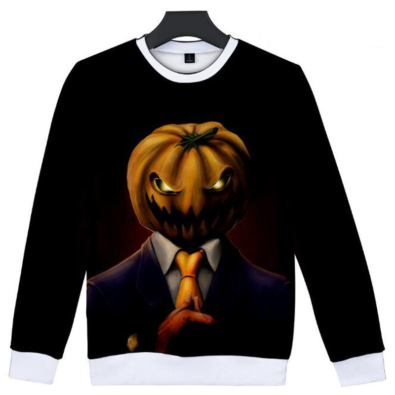 Halloween Pumpkin 3D Hoodie For Men Women Harajuku Sweatshirt Fall Winter Fashion Hip Hop Funny Hooded Jacket Coat Casual Top
