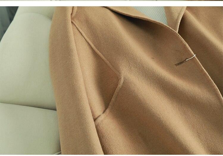 Nouvelle Survêtement 2018 Designer Plus D'hiver De Longueur Chameau Haute Qualité Manteau Alpaga Laine La Femmes Moyen Mode Taille wXtBqHX