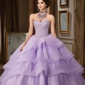 Hot Selling Lavender Lilac Ball Gown Quinceanera Dresses vestidos de 15 anos Beaded Corset Long Prom Dresses Quinceanera Dress