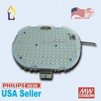 Бесплатная Доставка 100 Вт/120 Вт/150 Вт smd3030 led модернизации Наборы с MEANWELL для открытый уличный свет светильник и дороги США со