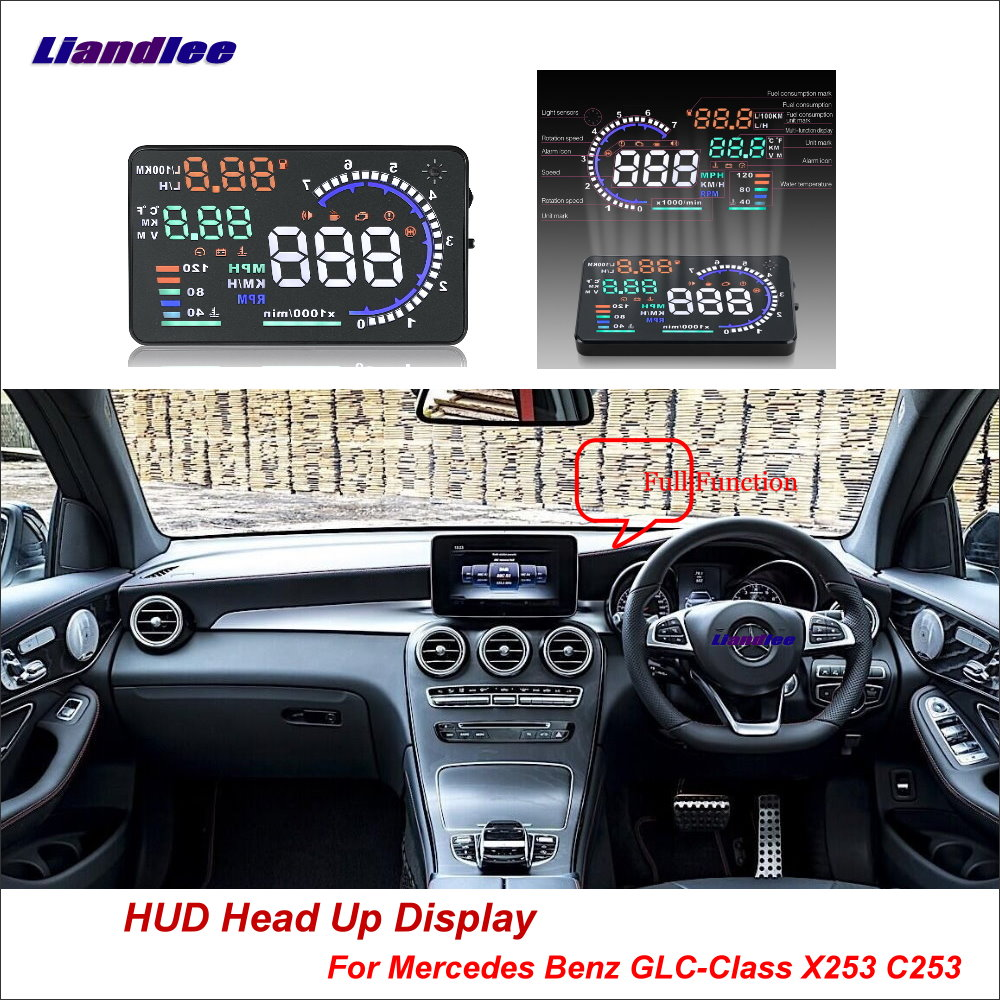 Liandlee Car Head Up Display HUD For Mercedes Benz GLC Class X253 C253 2015 2018 HD