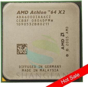 AMD Athlon X2 6000X2 6000 + 3 GHz ADA6000IAA6CZ Dual-Core CPU 89 W Processeur Socket AM2 940pin