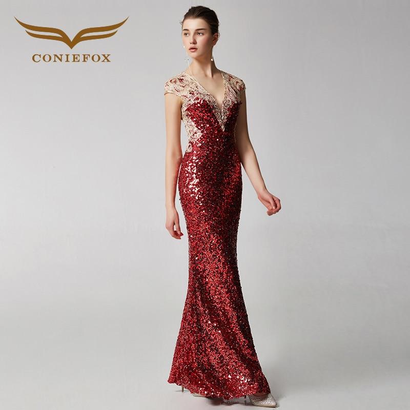 coniefox 31926 red elegant mermaid banquet dress evening. Black Bedroom Furniture Sets. Home Design Ideas