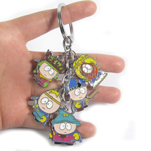 South Park Toys Keychain in color box Stan Kyle Eric Kenny 5 dolls alloy keychains 2