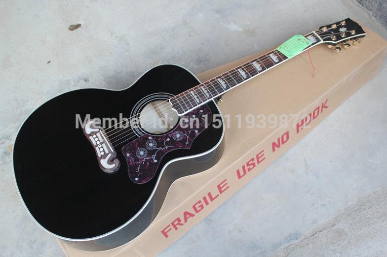 New Arrival  Black J200 BK200 6 Strings Acoustic GuitaR 43 INCH