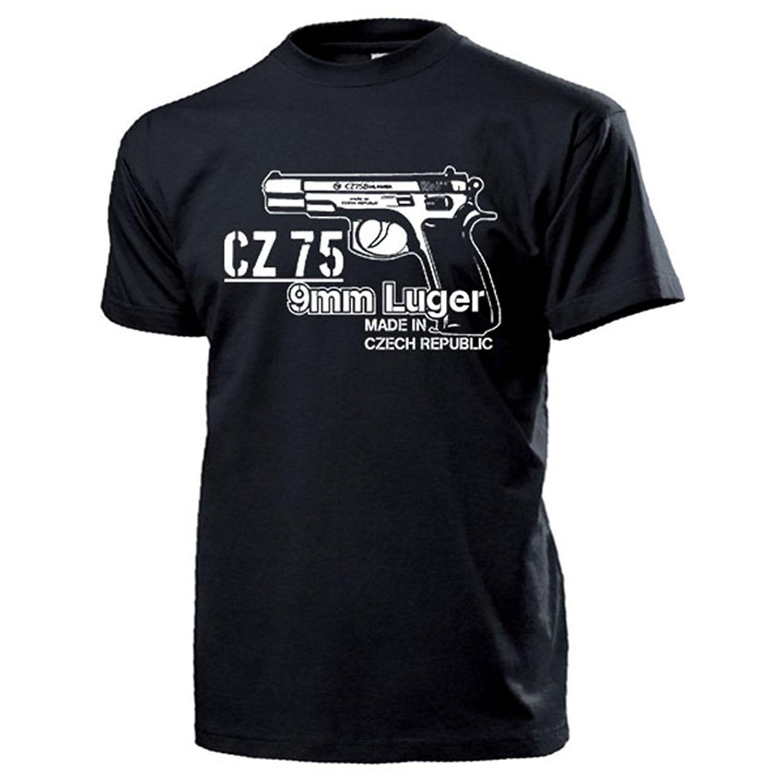 2019 Hot Sale Fashion CZ 75 9mm Luger Pistol Weapon Sniper Czech Handgun Automatic Military Gun Tee Shirt