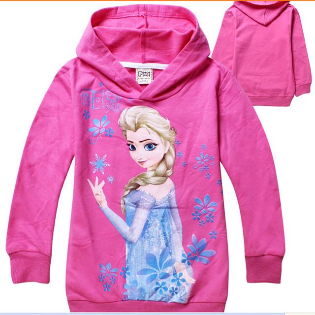 La primavera y período de otoño y el tipo de lana con capucha de la historieta de las muchachas chaqueta de lana