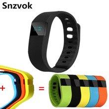 Snzvok TW64 bluetooth смарт браслет сменные ремешок браслет шагомер вызов напоминание запуск спорт пара браслетов