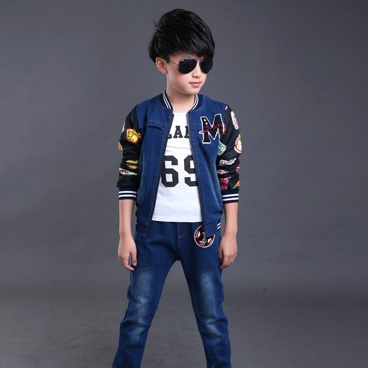 2ce159ed7 € 35.95 |Moda tres piezas chaqueta y pantalones 4 t a 13 años niños ropa  chicos adolescentes ropa de manga larga en Sistemas de la ropa de Mamá y ...