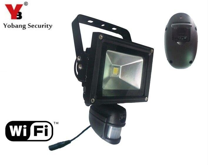 YobangSecurity 960 P 1.3MP WIFI Sans Fil En Plein Air DVR Caméra de Sécurité LED Lumière Lampe avec PIR Détection De Mouvement Enregistrement Vidéo