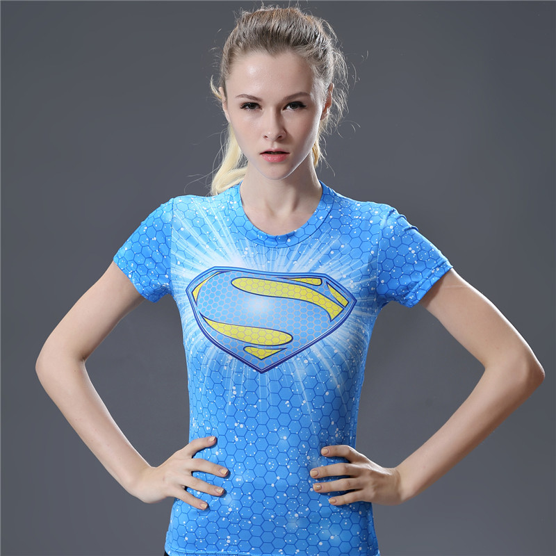 New Arrival Cool Style DC Comics Superhero Wonder Women T Shirts 3D Printed Bodybuilding Brand T-shirt Ladies Compression Tops image