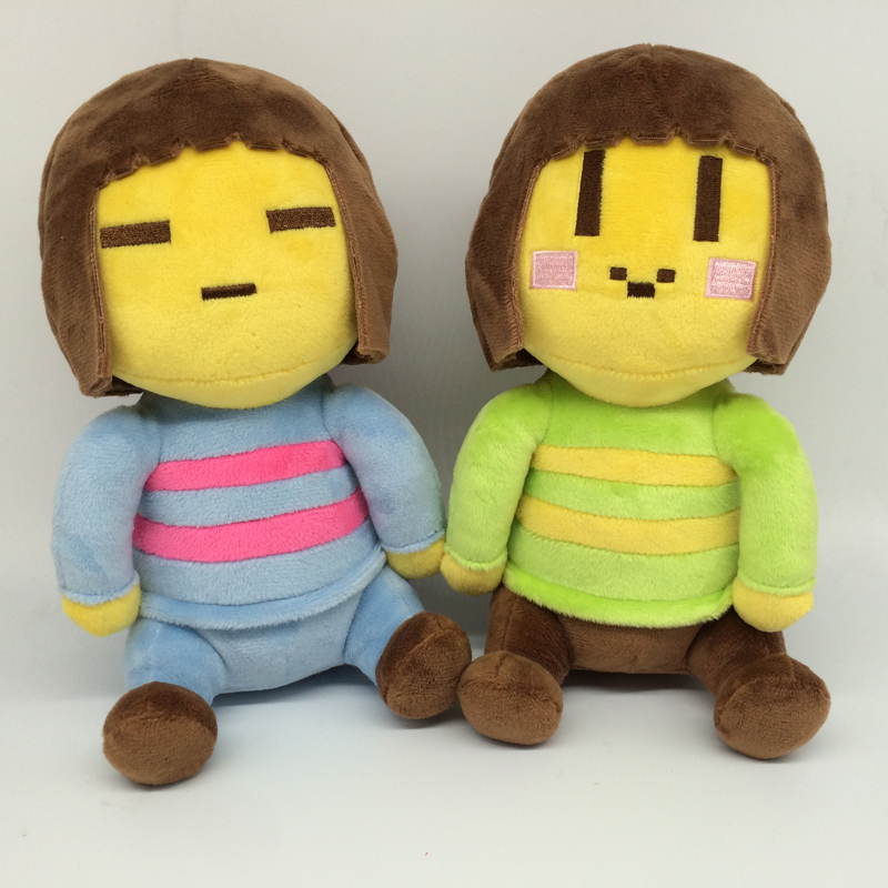 2pcs/lot 20cm Undertale Chara & Frisk Stuffed Plush Toys Doll Cute Undertale Plush Soft Anime Toy for Kids Girls Christmas Gifts