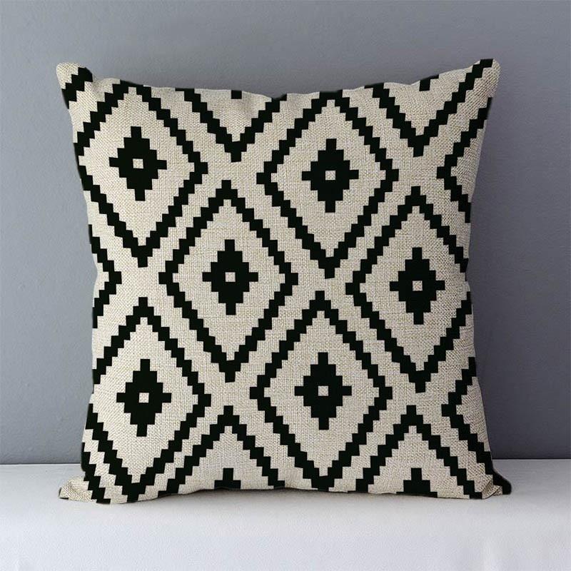 HTB1lhmjXcrrK1RjSspaq6AREXXaT Quality Cozy Popular geometric couch cushion home decorative pillows cotton linen 45x45cm seat back cushions bedding pillowcase