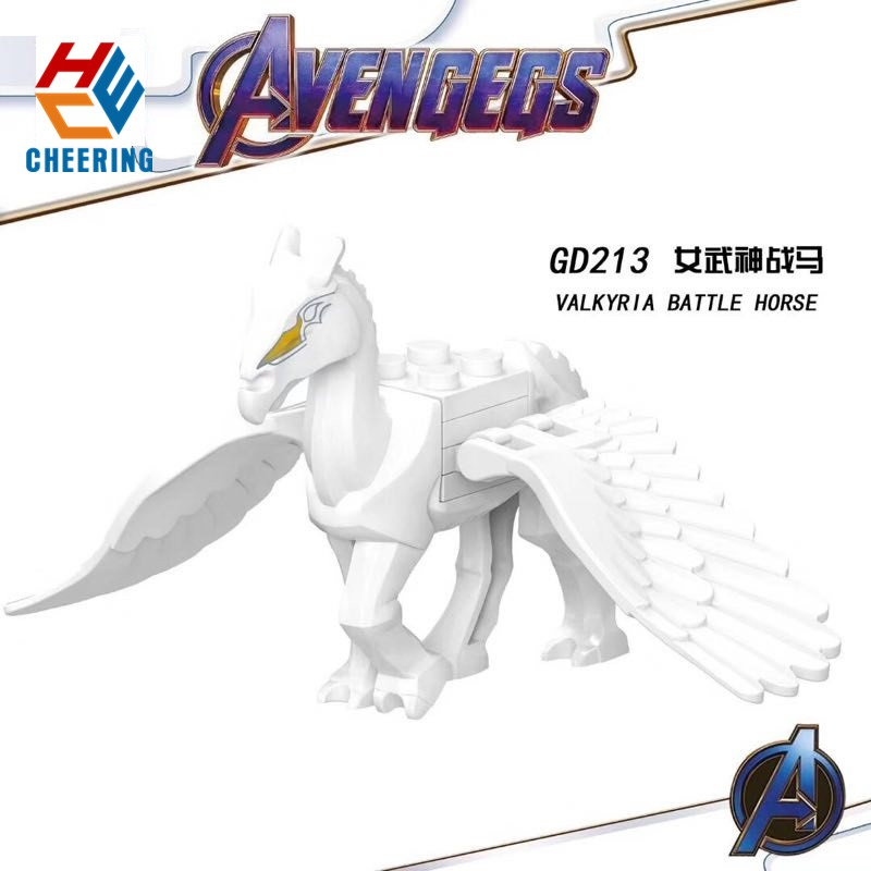 Single Sale Building Blocks Avengers 4 INFINITY WAR Gauntlet Valkyria Battle Horse Figures Collection Toys For Children GD213 image