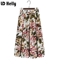 Sweet filles vintage voyager usure femmes 2017 jupes angleterre style femme lâche femmes imprimé floral jupes saias femininas