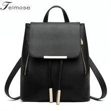 2017 Hot sales Women Backpack High Quality PU Leather Mochila Escolar School Bags For Teenagers Girls