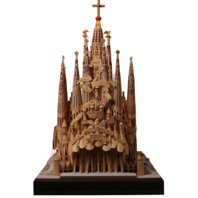 Paper Model DIY Sagrada Familia, Spain Craft Paper Model Architecture 3D  DIY Education Toys Handmade Adult Puzzle GamePaper Model DIY Sagrada Familia, Spain Craft Paper Model Architecture 3D  DIY Education Toys Handmade Adult Puzzle Game