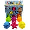 4-6 pçs textured multi conjunto de bola desenvolver sentidos táteis do bebê brinquedo do bebê toque mão bola brinquedos do bebê treinamento massagem bola macia