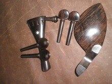 5 Satz Ebenholz Violine pass Original Farbe mit schwanz stück, kinnstütze & pegs 4/4