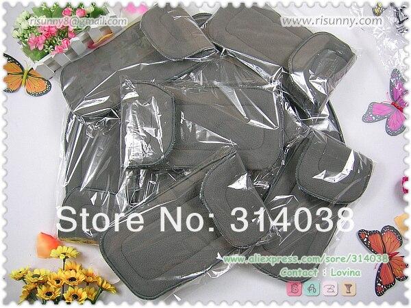 Risunnybaby известный бренд бамбуковый угольный вкладыш 5 слоев для детских подгузников