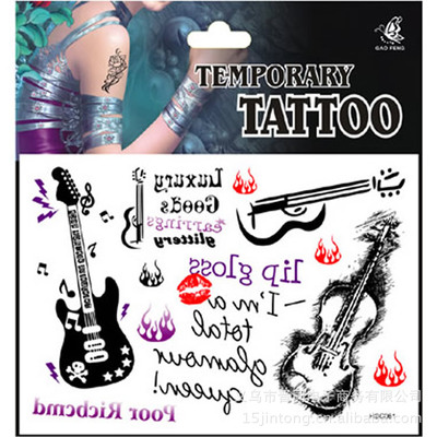 Compare prices on guitar tattoo online shopping buy low for Tattoo factory prices