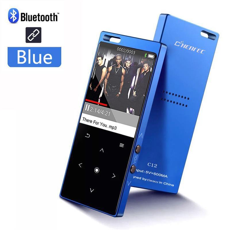 MP4 נגן Bluetooth מגע מפתח מובנה רמקול Lossless HiFi נגן מוסיקה עם FM נגן וידאו, תומך SD כרטיס עד 128 gb