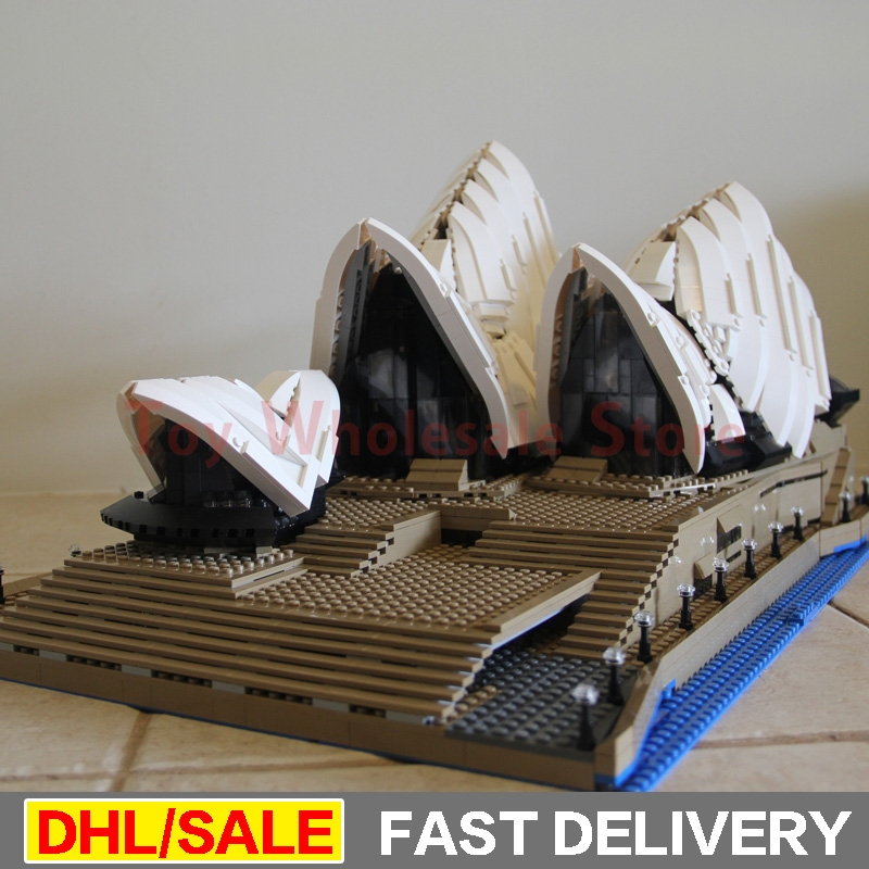 LEPIN 17003 2989Pcs City Sydney Opera House Model Building Kits Blocks Bricks lepins Toys Gift Clone 10234 lepin 17003 2989pcs sydney opera house model building kits blocks bricks toys compatible legoed 10222