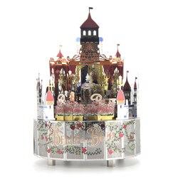 Музыкальная шкатулка Beauty and the Beast, подарок на день рождения, Рождество, 3D металлическая головоломка, музыкальная шкатулка, персональный пода...