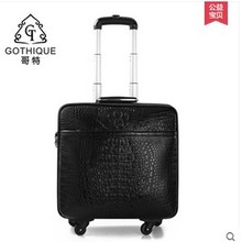 2018 gete new hot free shipping crocodile leather pull rod men luggage check in male female